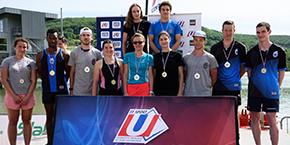 Podium FFSU triathlon