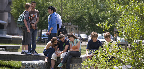 Etudiants campus