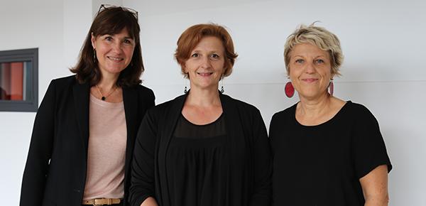 De gauche à droite : Marie-Christine Baietto, administratrice provisoire de l'INSA Lyon ; Nathalie Mezureux, directrice de l'ENSAL et Sylvie Barraud, directrice du département Génie Civil et Urbanisme de l'INSA Lyon0