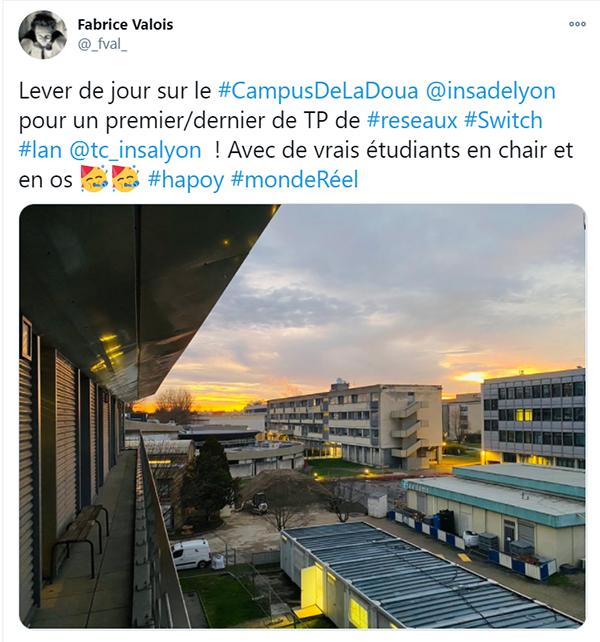 Le campus au petit matin !