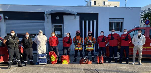 Equipe du service sûreté sécurité incendie de l'INSA Lyon
