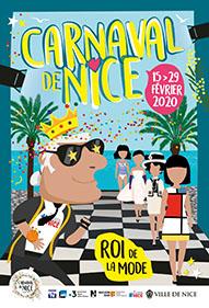 """Visuel officiel du Carnaval de Nice 2020 """"Roi de la Mode"""""""