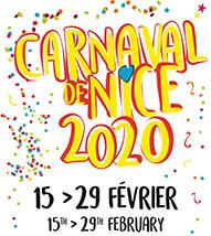 """Viseul officiel du Carnaval de Nice 2019 """"Roi du Cinéma"""""""